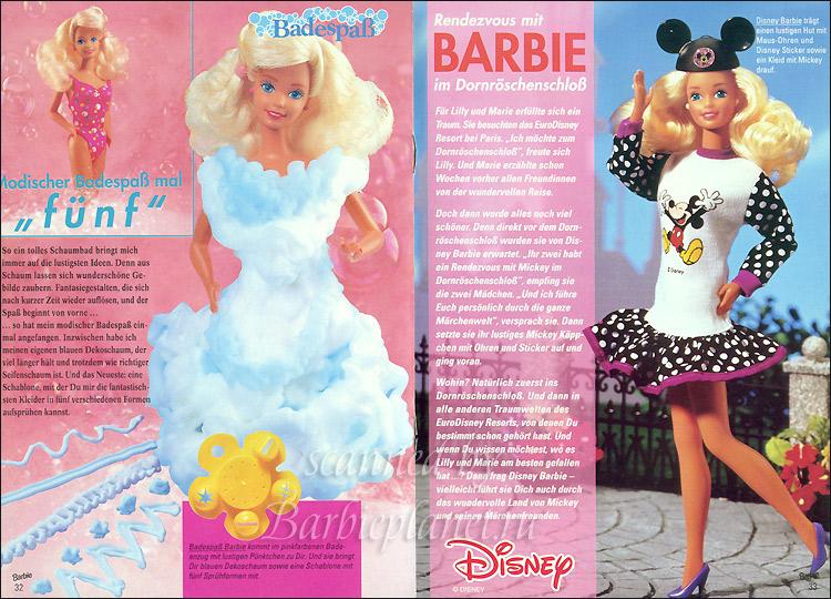 кукла Барби 90-х для игры в ванне и Барби Дисней