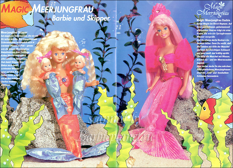 Куклы Барби русалочки и Скиппер 90-е