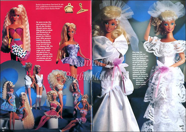 Барби невеста в свадебном платье 90-е