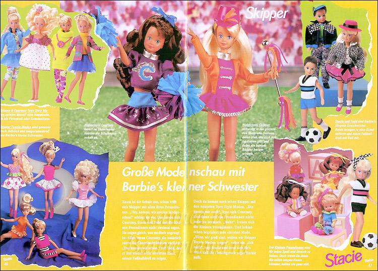 Куклы Скиппер и Кортни в бумажном каталоге Барби