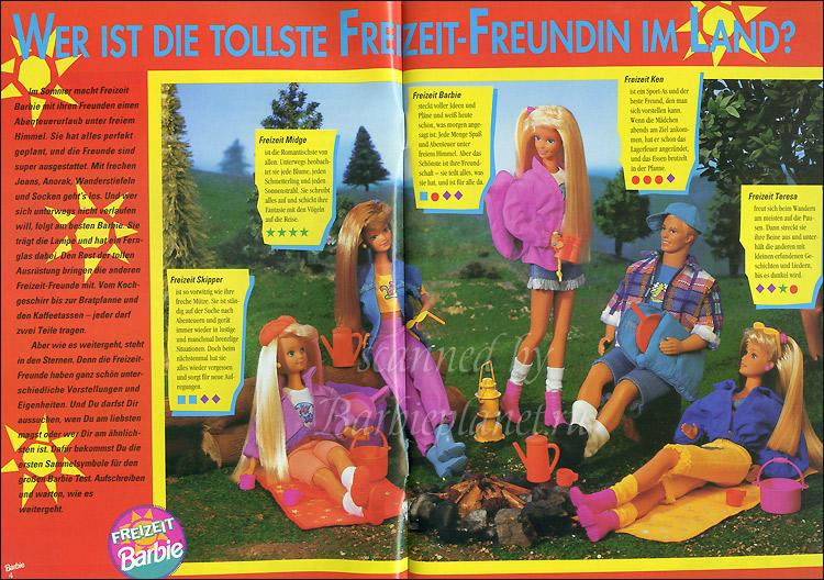 Куклы Барби 90-х туристы в походе Camp Barbie