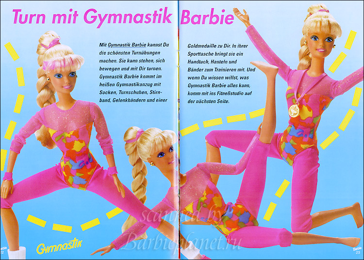 Кукла Барби гимнастка 90-е с шарнирами