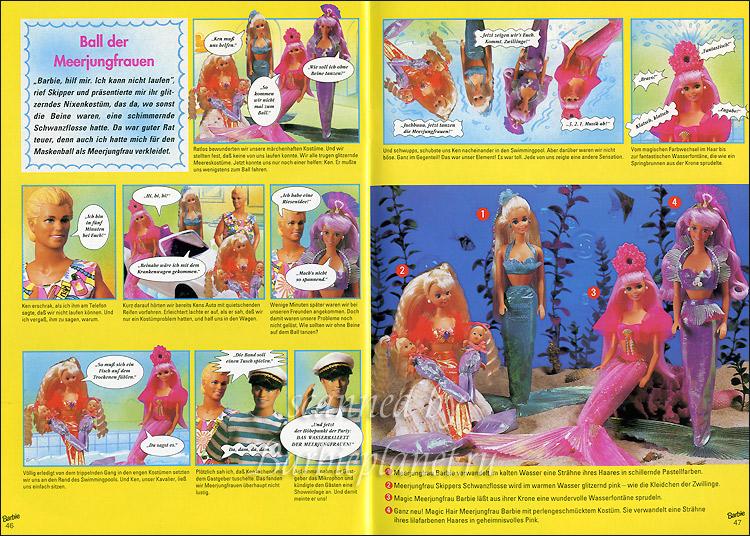 Каталог кукол Барби русалки