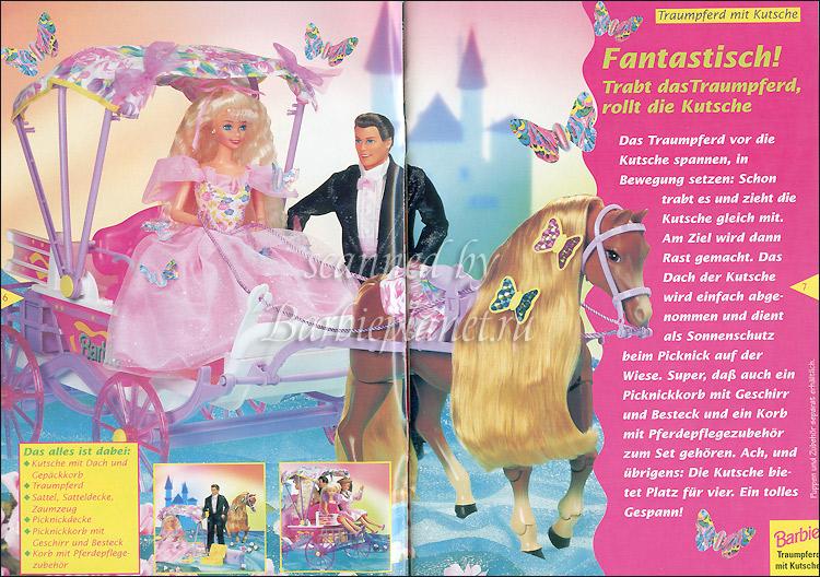 Куклы Барби и Кен лошадь карета