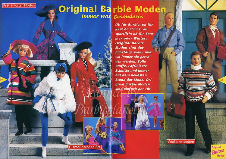 Одежда для кукол Барби 90-е бумажный каталог