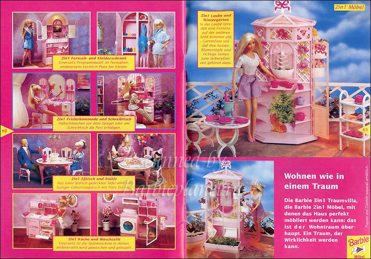 Мебель для куклы Барби реклама 90-е