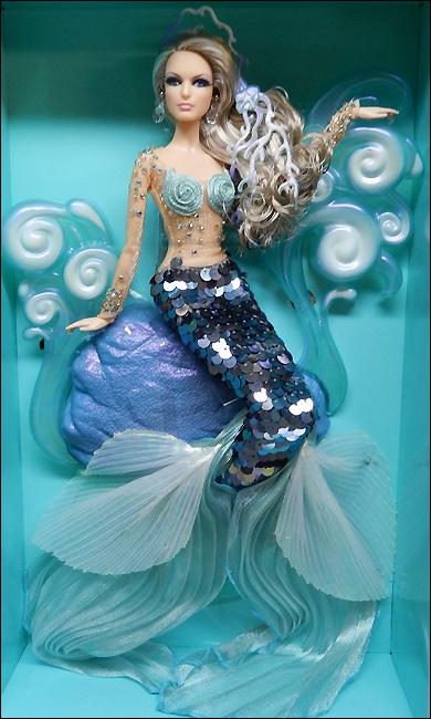 Коллекционная кукла Барби русалка новая 2012 живое фото