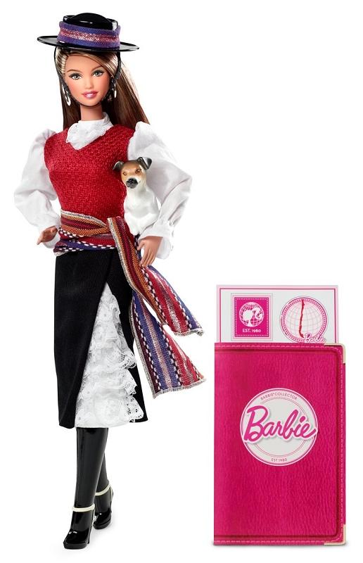 Коллекционная Барби Чили в национальном костюме новое 2012