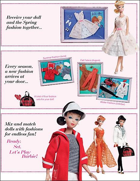 Кукла Барби и ее одежда винтаж репро