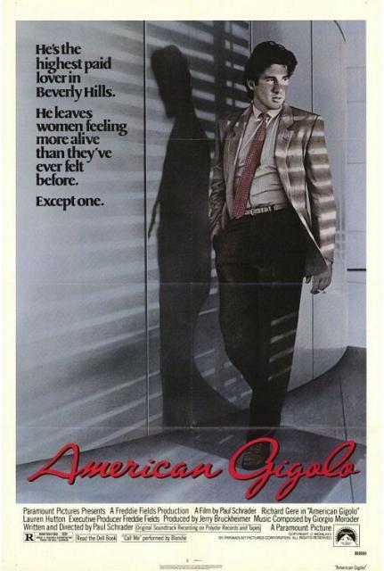 Постер фильма Американский Жиголо в костюмах от Армани