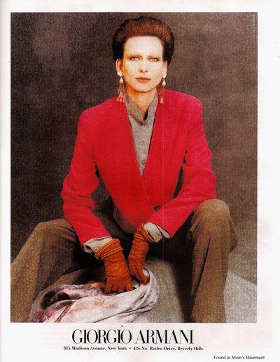 Властный костюм от Армани Armani Power Suit реклама