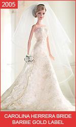 Кукла Барби невеста от Каролины Эррера