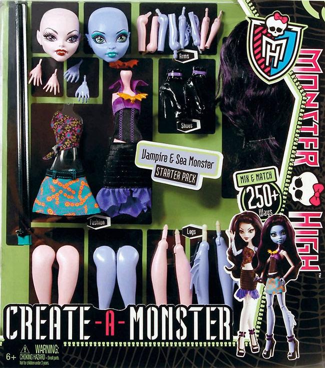 Школа Монстров набор кукла-конструктор Создай Своего Монстра
