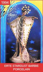Фарфоровая коллекционная Барби в платье от Эрте