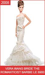 Невеста Барби в свадебном платье от Веры Вонг