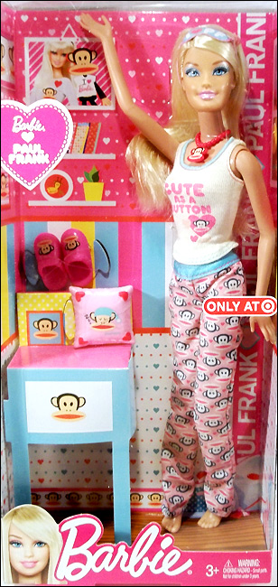 Новинка Барби 2012 в пижаме - Barbie Loves Paul Frank