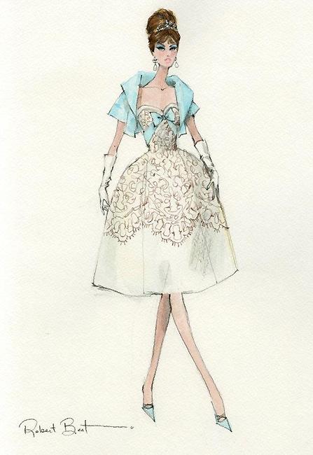 Эскиз дизайна платья Silkstone Barbie Party Dress