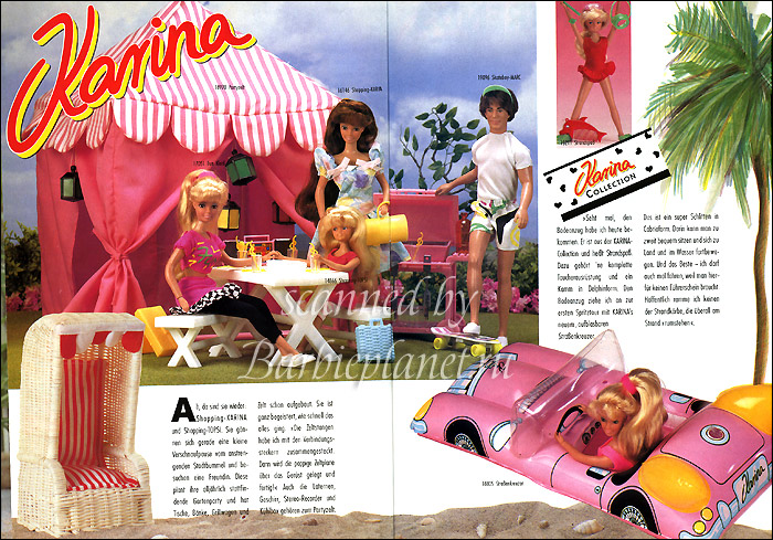 Мебель и аксессуары для немецкой куклы Карины 90-х