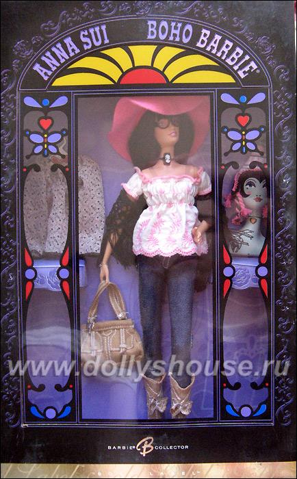 Коробка коллекционной Барби Anna Sui Boho Barbie