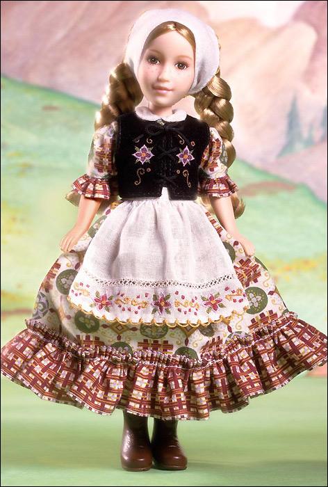 Коллекционная кукла Хайди из книги Иоганны Спири