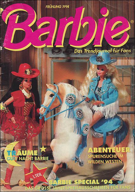 Кукла Барби на лошади ковбой