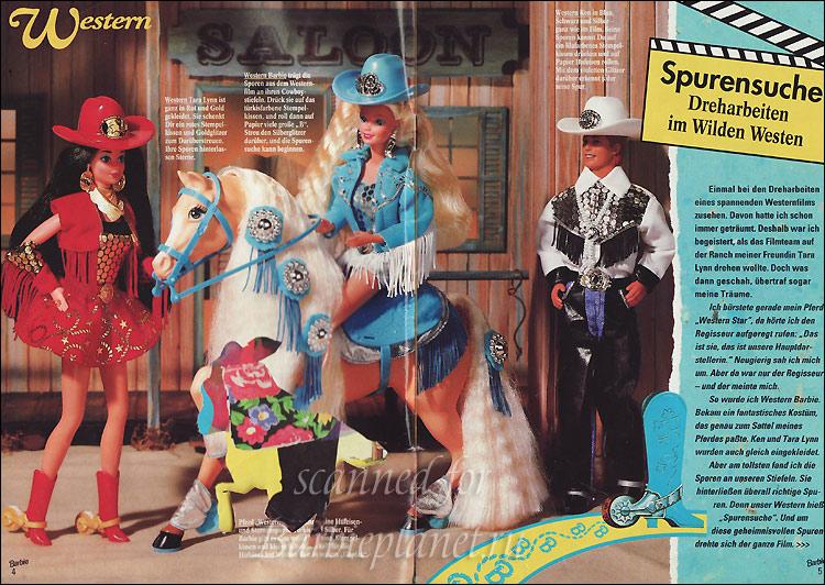 Куклы Барби и Кен лошадь ковбои
