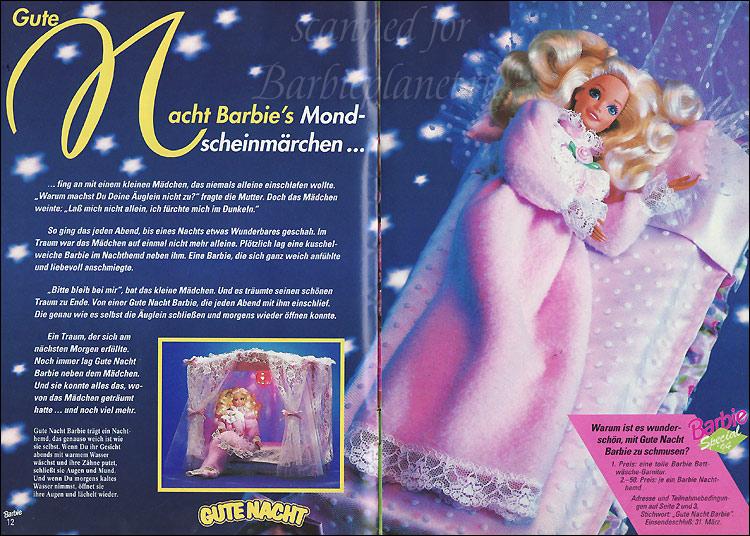 Кукла Барби с мягким телом Bedtime Barbie спящая