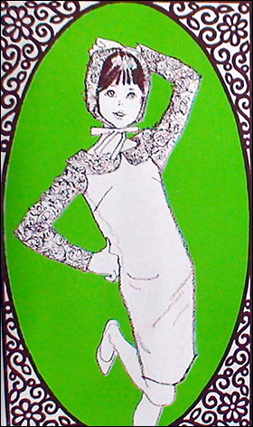 Винтажная кукла Фрэнси Mattel - мода шестидесятых рисунок