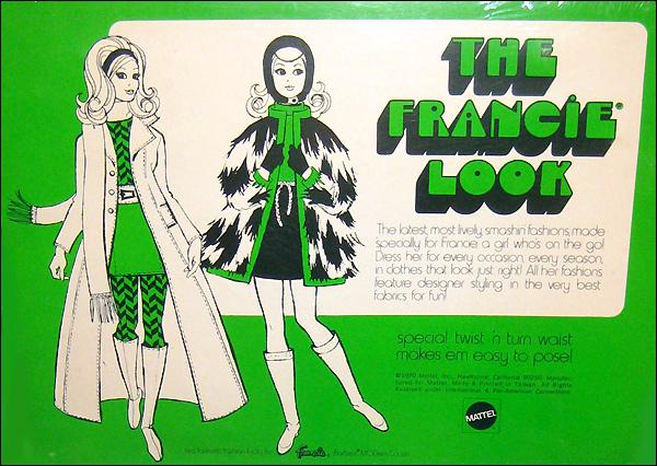 Кукла Фрэнси винтажная мода шестидесятых