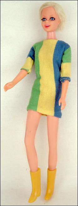 Кукла Твигги портретная винтажная Mattel