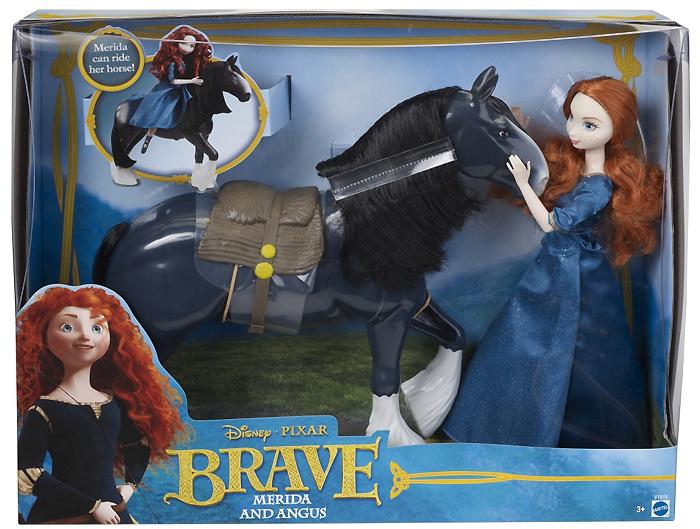 Мерида Храбрая Сердцем набор кукла и лошадь