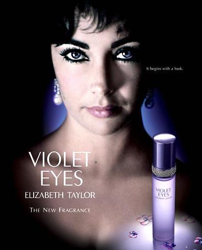Реклама духов Элизабет Тейлор Violet Eyes