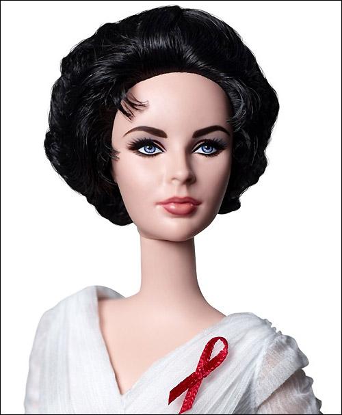 Коллекционная кукла Барби Элизабет Тейлор Силкстоун Белые Бриллианты
