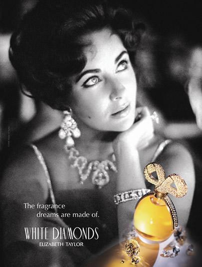 Реклама Элизабет Тейлор Белые Бриллианты духи