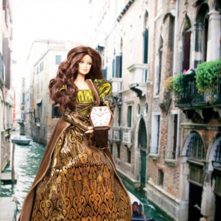 Коллекционная кукла Барби Да Винчи и элитные часы