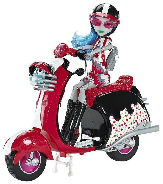 Кукла Гулия на скутере