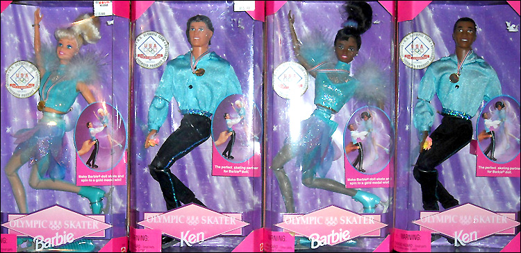 Куклы Барби и Кены фигурное катание Олимпиада в Нагано