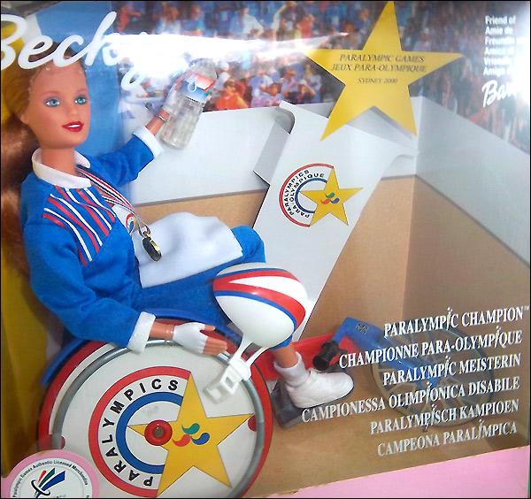 Кукла в инвалидной коляске Paralympic Champion Becky