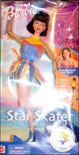 Шарнирная кукла барби фигуристка