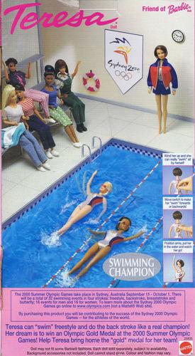 Промо фото олимпийской барби пловчихи