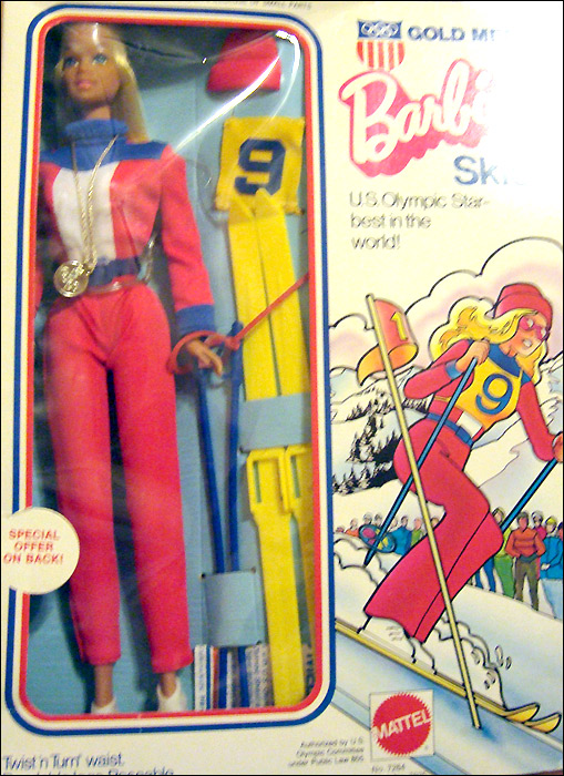 Винтажная кукла Барби Олимпиада зимняя