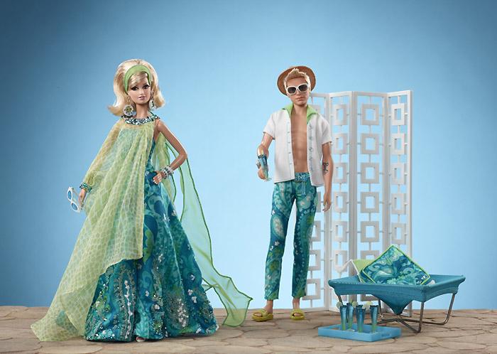 Эксклюзивные коллекционные куклы Барби и Кен на пляже