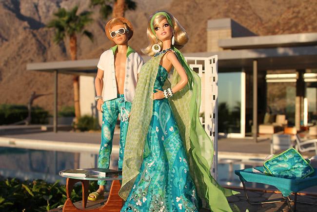 Фото куклы Барби и Кена в Палм Спрингс