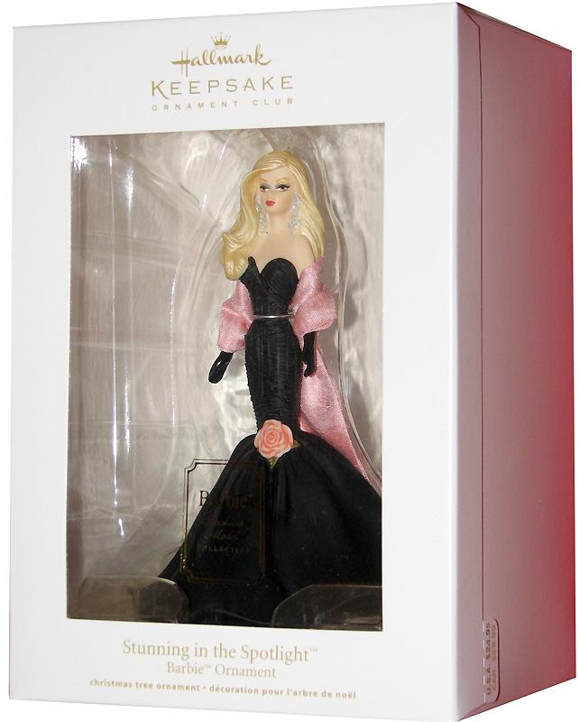 Коллекционная елочная игрушка фарфоровая Барби Hallmark