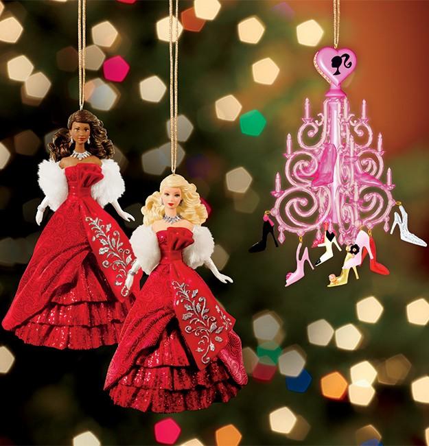 Елочные игрушки куклы Барби миниатюра