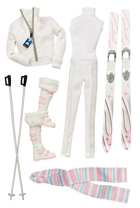 Новинка 2013 Одежда для коллекционных Барби-моделек Winter Weekend
