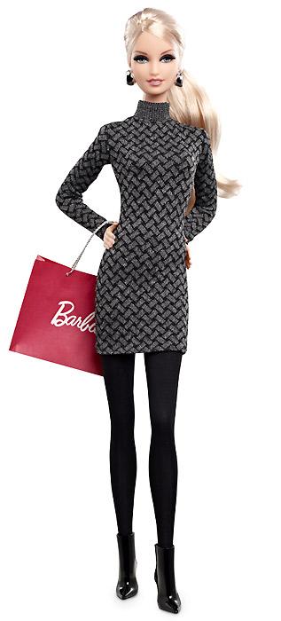 Новинка 2013 Коллекционная кукла City Shopper Barbie блондинка