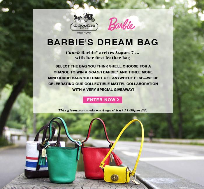 Фирменные кожаные сумочки для куклы Барби от Coach 2013