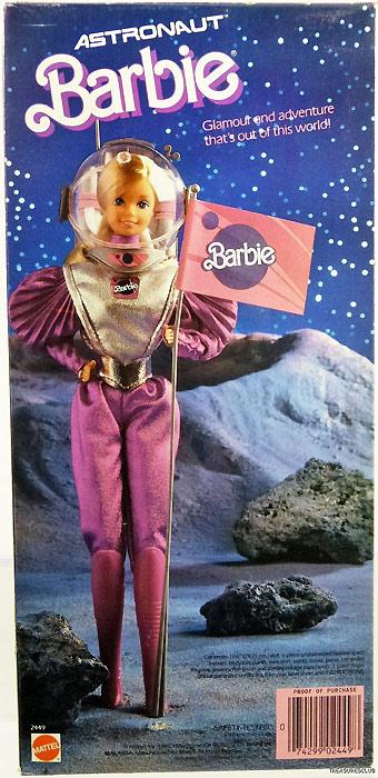 Кукла Барби космонавт в розовом