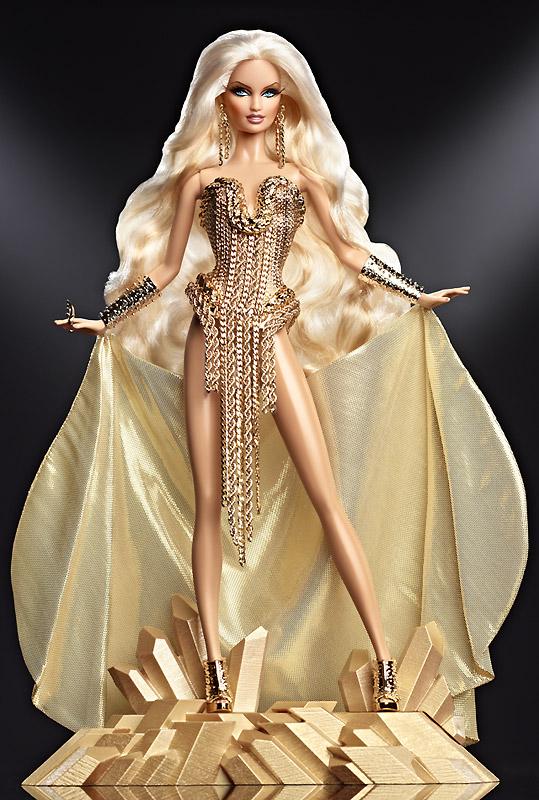 Коллекционная кукла Барби 2013 Blond Gold Barbie